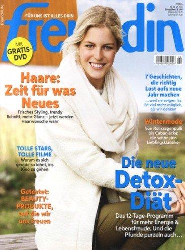 Freundin Jahresabo 26 Ausgabe für 78€ + 65€ Verrechnugsscheck effektiv 13€ / 0,50€ pro Ausgabe