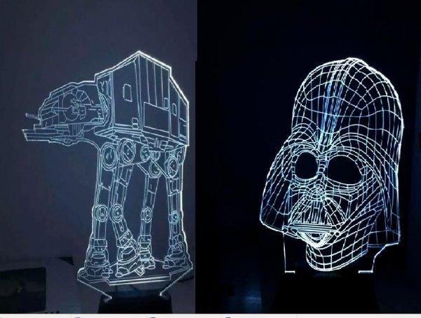 [Ebay] Star Wars AT-AT Walker/Darth Vader LED Tischlampe