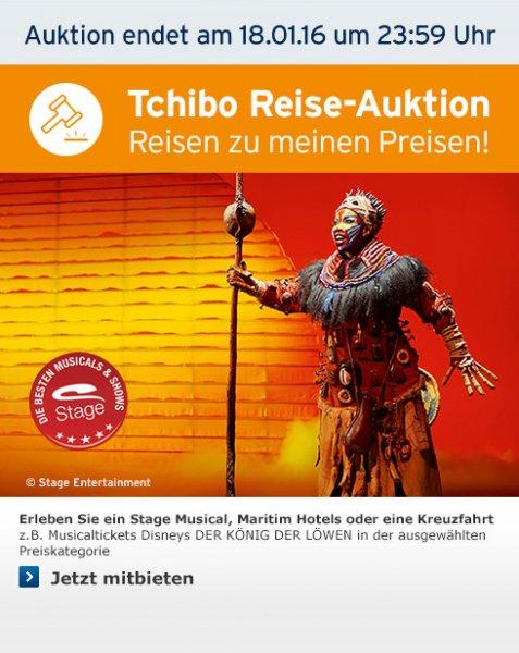 Tickets König der Löwen bei Tchibo-Reiseauktionen