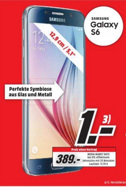 (Lokal) Samsung Galaxy S6 32GB für 389€ @ Mediamarkt Essen