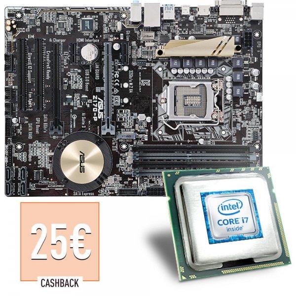 Bundle - Intel i7-6700K (4x 4.0GHz, HT, freier Multi) & Asus Z170-P Mainboard + Kühler - 429€ @ ebay/CSL Computer [-25€ Cashback]