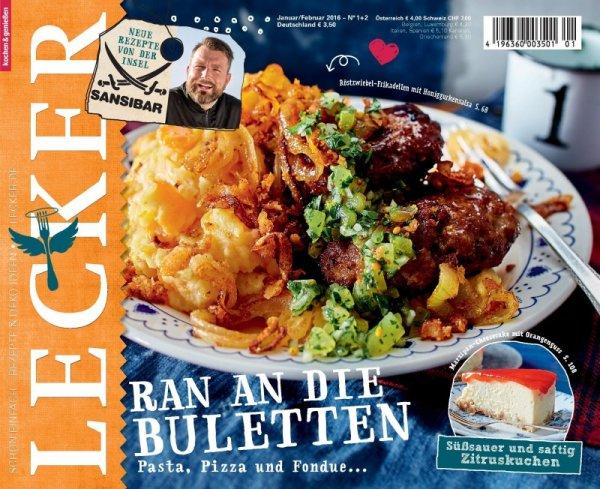 """Koch-Magazin / Zeitschrift """"Lecker"""" rechnerisch 5€uro mit Amazon Gutschein"""