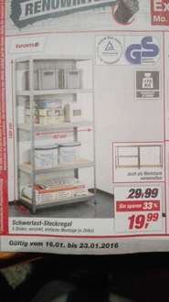 (TOOM)Schwerlast-Steckregal bis 175KG pro Boden
