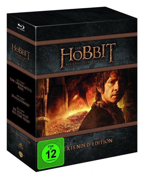 (alphamovies.de) Der Hobbit Trilogie Extended Edition [Blu-ray] für 50,94€, [Blu-ray 3D] für 61,94€ oder [DVD] für 39,94€