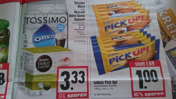 EDEKA Hessenring - Sammeldeal KW3 Tassimo & Dolce Gusto 3,33 Packung Div. Sorten und weitere Angebote