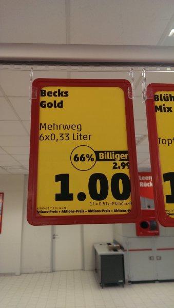 [LOKAL] Penny 66780 Rehlingen Beck's Gold im 6er 0.33l Träger für 1.00€ (0.50€/Liter)