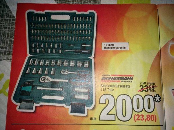 Mannesmann Steckschlüsselsatz 115 Teile