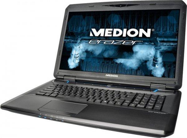 Medion Erazer X7833 mit Core i7-4710MQ Quad bis 3,5GHz + HT,  GTX 970M, 32GB RAM,128GB SSD, 1TB HDD, 17,3 Zoll Full-HD matt, Windows 8.1 für 1.349,10€ bei Medion