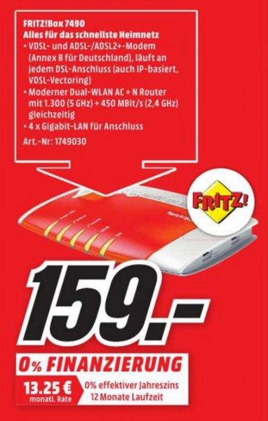 (Lokal) AVM FRITZ!Box 7490 für 159 @ Mediamarkt Neuss & Mönchengladbach