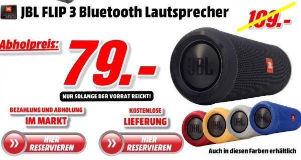 JBL FLIP 3 - Versandkostenfrei - verschiedene Farben NUR 79 Euro