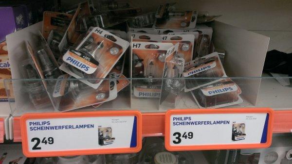 [Action] Philips Vision H4 und H7 Scheinwerferlampe +30% Licht für 2,49€ bzw. 3,49€ pro Stück