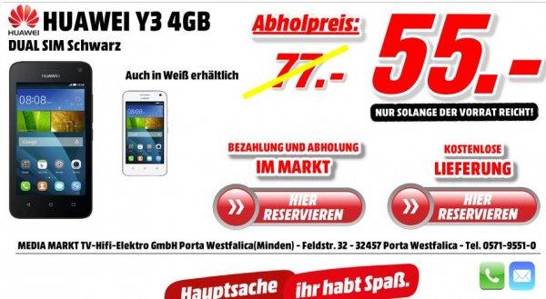 HUAWEI Y3 4G dual Sim - Versandkostenfrei - in  schwarz oder weiß