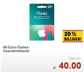 iTunes Guthaben bis zu 20% günstiger