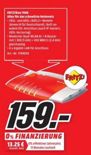 (Lokal) AVM FRITZ!Box 7490 für 159 @ Mediamarkt Aachen,Eschweiler,Herzogenrath,Hückelhoven