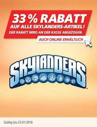 Skylanders -33% auf alles bei real