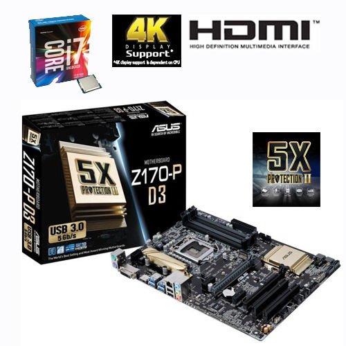 Bundle Intel Core i7 6700K & ASUS Z170 P-D3 Mainboard (zzgl 25€ Cashback)