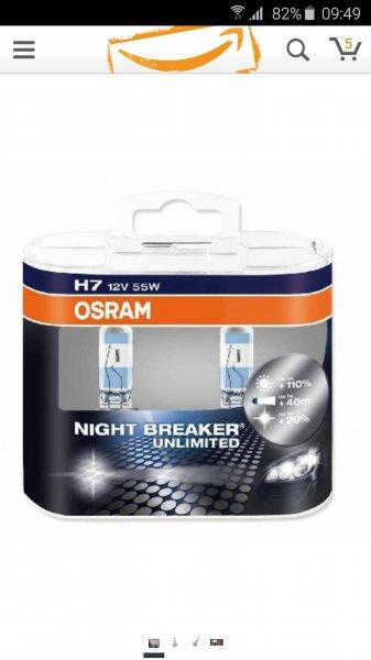 Osram H7 NIGHTBREAKER  (Amazon.de)