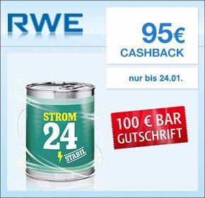 Wieder verfügbar! [QIPU] RWE: 95€ Cashback + 100€ Bar Gutschrift für deinen Strom oder Gas Wechsel