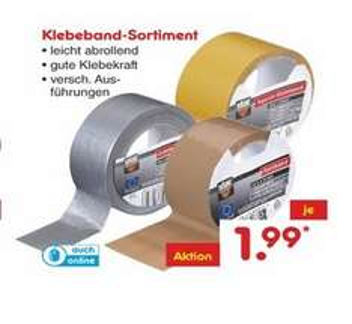 [Netto Marken-Discount] Gewebeklebeband Klebeband-Sortiment versch. Sorten 1,99€