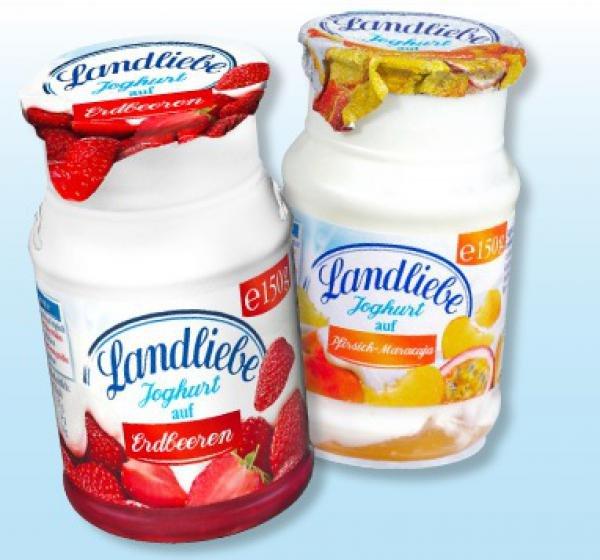 [PENNY evtl. bundesweit*] KW03 Landliebe Joghurt auf Frucht (versch. Sorten, je 150 g) 6 Stück für 0,98 € (Angebot + Scondoo) [21.01.2016 - 23.01.2016]