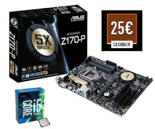 Bundle - Intel i5-6600K & Asus Z170-P Mainboard + Kühler - 345€ @ ebay [-25€ Cashback]