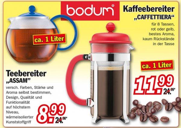 [Zimmermann] Bodum Caffettiera 1L für 11,11€ und Assam 1L für 8,99€