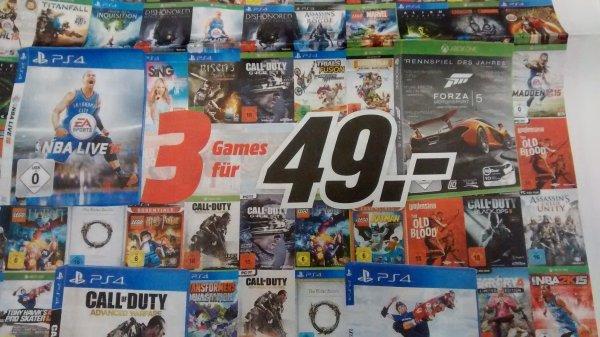 Media Markt: 3 Games für 49€ - PS4, PS3, PC, Xbox One ab Mittwoch 20.1. in den Filialen *UPDATE* Jetzt auch online