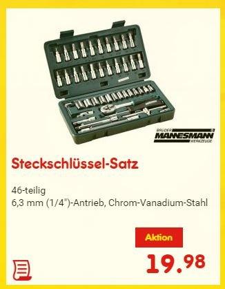 Steckschlüssel-Satz Mannesmann 46tlg (19.98€ - Netto ohne Hund)
