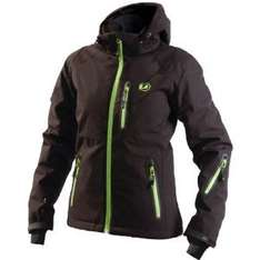 [Amazon-Prime] Ultrasport Damen-Funktions-Alpin-Outdoorjacke Softshell Serfaus mit Ultraflow 10.000 (schwarz/Applegreen) Gr. M