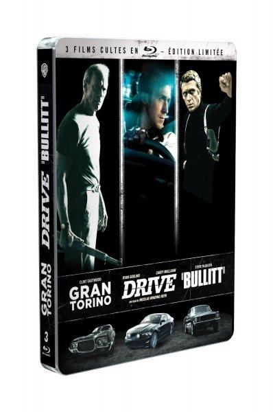 Gran Torino + Drive + Bullitt (Blu-ray) Steelbook für 13,90€ bei Amazon.fr