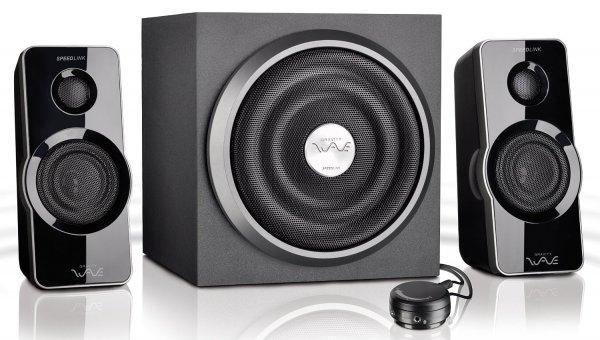 """Speedlink™ - 2.1 Lautsprechersystem """"Gravity Wave X"""" (35W RMS,Tischfernbedienung,Subwoofer mit Holzgehäuse) [B-Ware] ab €31,03 [@Allyouneed.com]"""