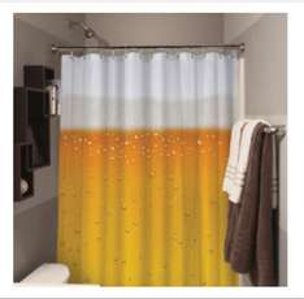 Bier-Duschvorhang Beer O'Clock fürs Gästebad bzw. -klo @sowaswillichauch