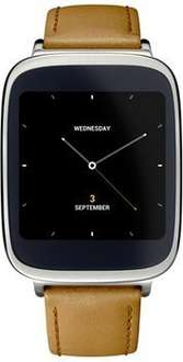 """[NBB] Asus ZenWatch WI500Q (1,63"""" AMOLED Touch, Snapdragon 400 Quadcore, 512 MB RAM, 4 GB ROM, Lederarmband, Android Wear) für 101,99€"""