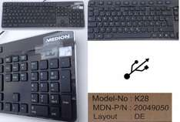 Neu ! Medion  K28 Slim Tastatur mit 2 Jahren Gewährleistung.
