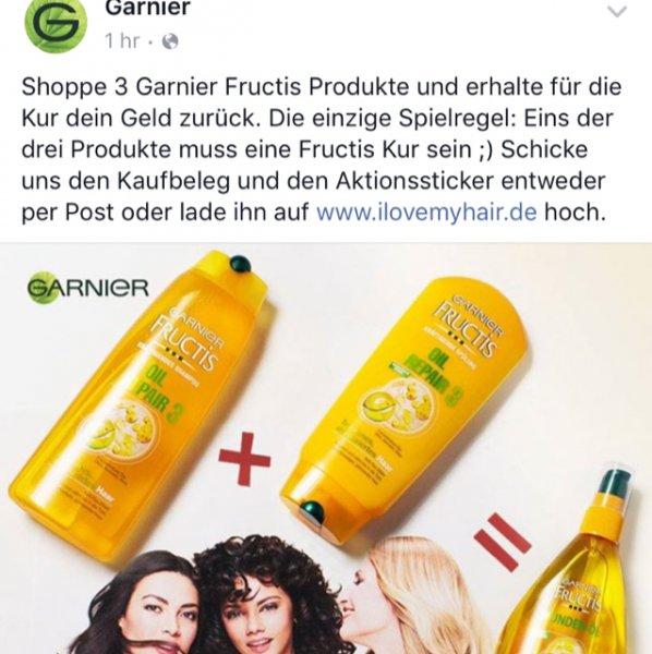 Garnier Kur gratis bei Kauf von 2 weiteren Produkten