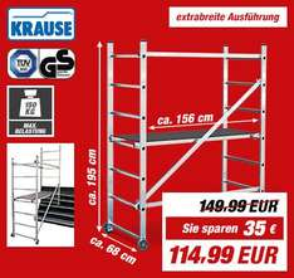 Toom / Bauhaus Kleingerüst Krause 12% Preisgarantie 101,19€