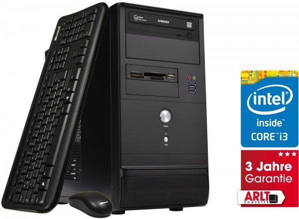 [Arlt] ARLT Mr. Whisper Pro SSD i3 Intel Core i3, 8GB RAM, 120GB SSD, 1000GB HDD, Intel HD Graphics 4400, ohne Betriebssystem, 3 Jahre Garantie