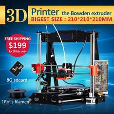 [Aliexpress/China] 3D-Drucker Bausatz Reprap Prusa i3 Design mit 1 Rolle Filament