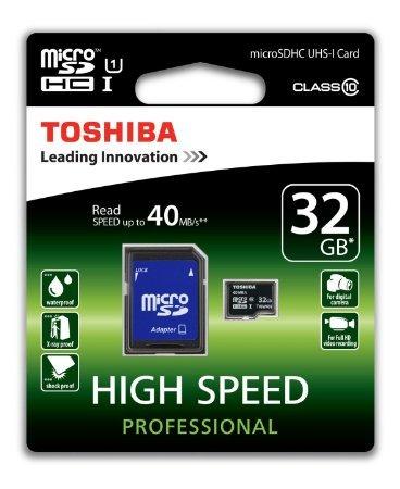 [Amazon + Mediamarkt] Toshiba microSDHC mit 32GB Class 10 / U1 für 9€