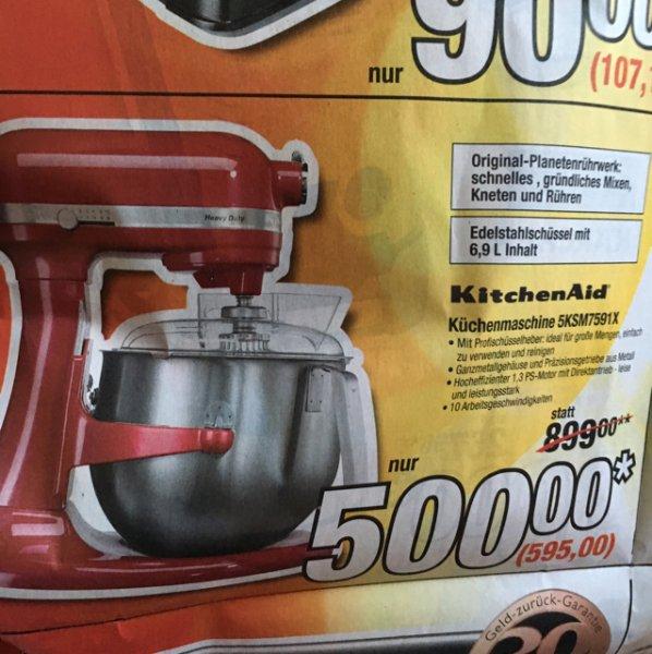 [Metro] KitchenAid Küchenmaschine 5KSM7591
