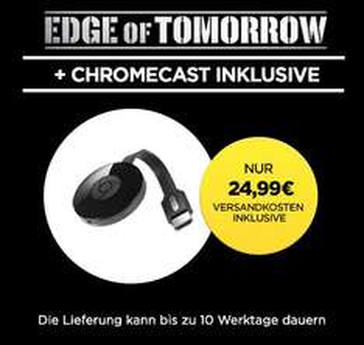 "[Wuaki] Google Chromecast 2 (2015) + ""Edge of Tomorrow"" (Stream) für 24,99€"