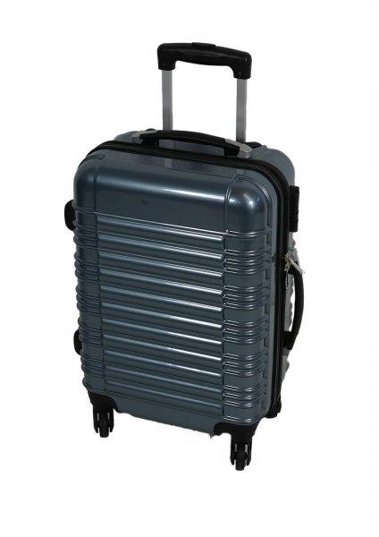 [koffer-kaufen.eu] Koffer Trolley in eisblau und rot für 20,93 €