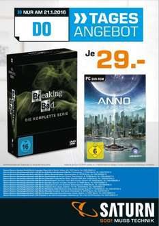 [Berlin&Potsdam] Saturn Breaking Bad (Komplette Serie) DVD / Anno 2205 beides je 29€