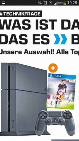 Bundesweit Saturn PS4 500 GB + Fifa 16 für 349 €