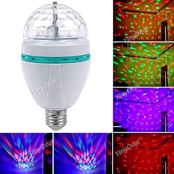E27 3W RGB LED Lampe mit VOICE CONTROL für weniger als 4€ inkl. Versand @tinydeal