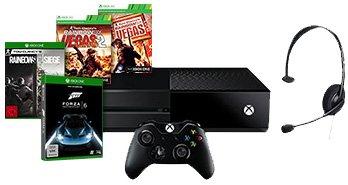 [Microsoft-Store] Xbox One 1 TB + Rainbow Six Siege + Vegas 1 & 2 Bundle + Headset + Forza 6 + 3 Monate Xbox Live