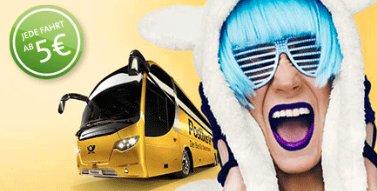 Mit dem Postbus ab 3,75€ durch ganz Deutschland