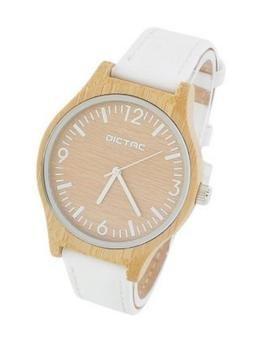 DICTAC Damen Armbanduhr aus Bambusholz - 20% Gutscheincode