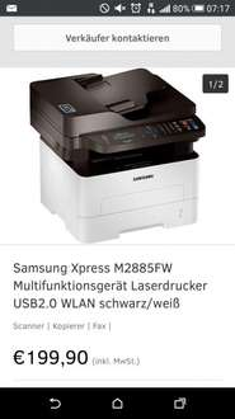Samsung Xpress M2885FW für 200 Euro inkl Versand