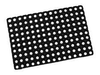 [Bauhaus online] Fußmatte / Ringmatte DOMINO, 40 x 60 cm, schwarz 2,95€